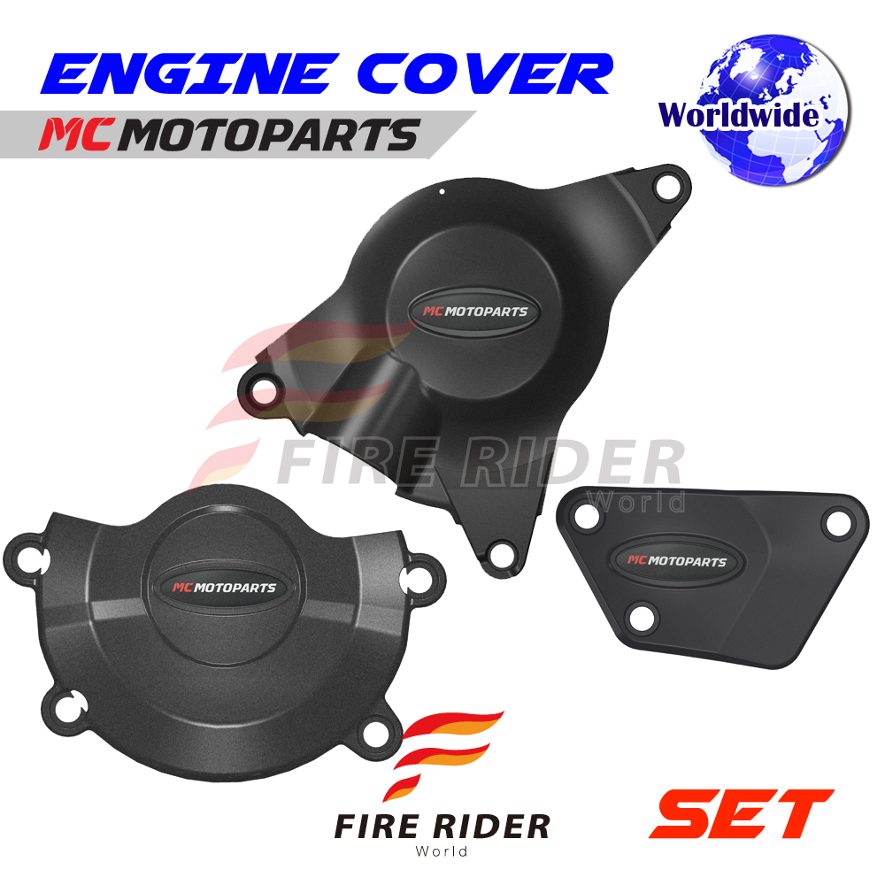 Black Engine Cover Protector For Yamaha Yzf R6 06 07 08 09